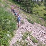 Geologenpfad durch Verrucano, auch roter Ackerstein genannt.